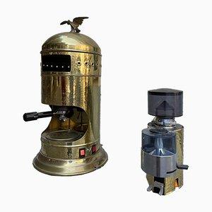 Máquina de café y molinillo de café de Victoria Arduino. Juego de 2