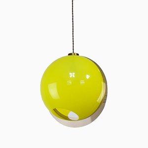 Italian Space-Age Yellow Pendant Lamp