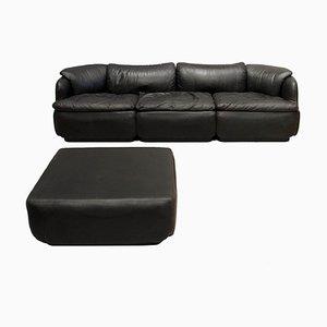Confidential Sofa mit Fußhocker von Alberto Rosselli für Saporiti, 1970er, 2er Set