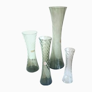 Vases with Serrated Edge by Alfred Taube for Füge & Taube, 1960s, Set of 4