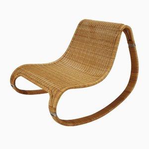 Vintage Schaukelstuhl aus Korbgeflecht von IKEA, 1990er