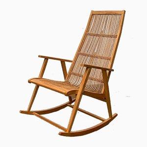 Mid-Century Rattan Rocking Chair