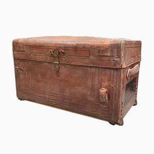 Leather Trunk, End of 19th Century