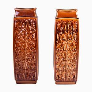 Mid-Century Ceramic Vases, Czechia, Set of 2