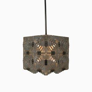 Glass Pendant Lamp from Kamenicky Senov, 1960s