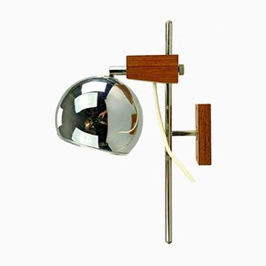 Space Age Teak Wall Lamp from Temde, 1960s