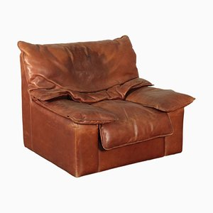 Armchair in Foam and Leather, 1970s