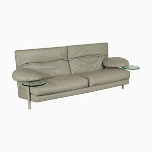 Leather, Foam & Glass Sofa by Paolo Piva for B&B, 1950s