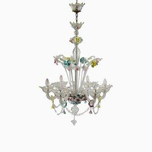 Lampadario in vetro di Murano a 6 luci