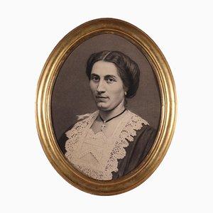 Portrait de Femme, Crayon sur Papier
