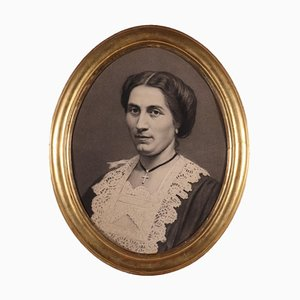 Weibliches Portrait, Bleistift auf Papier