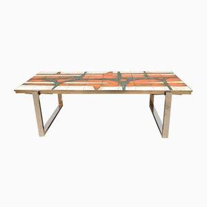 Vintage Ceramic Tile Table from Belarti