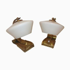Brass Lamps, 1930s, Set of 2