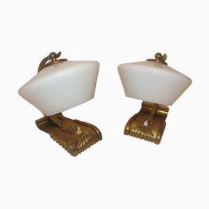 Messing Lampen, 1930er, 2er Set