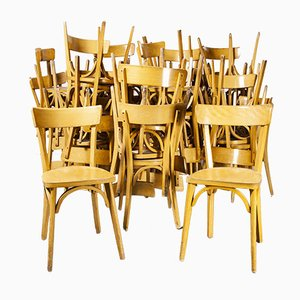 French Luterma Bentwood Model Ob Dining Chairs by Marcel Breuer, 1950s