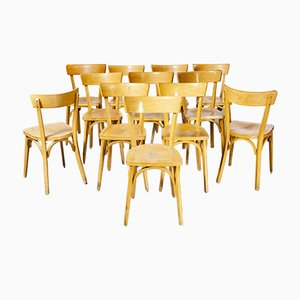 French Luterma Bentwood Model Ob Dining Chairs by Marcel Breuer, 1950s, Set of 12
