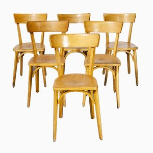 French Luterma Bentwood Model Ob Dining Chairs by Marcel Breuer, 1950s, Set of 6