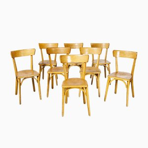 French Luterma Bentwood Model Ob Dining Chairs by Marcel Breuer, 1950s, Set of 8