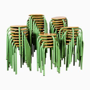 French Stacking School Stool in Mint, 1960s