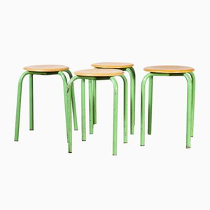 French Stacking School Stools in Mint, 1960s, Set of 4