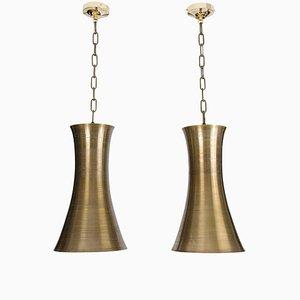 Bronze-Colored Hourglass Pendants, Set of 2