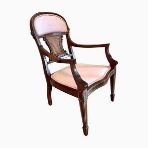Antique Edwardian Mahogany Inlaid Armchair