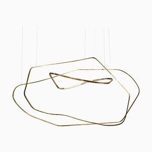 Ophelia Brass Sculpted Light Pendant by Morghen