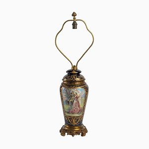 Porcelain and Gilt Bronze Lamp Stand