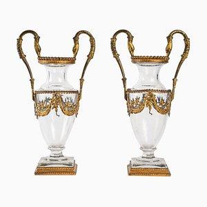 Crystal Vases, Set of 2