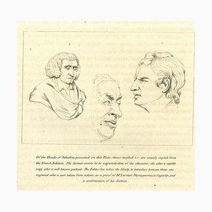 Thomas Holloway, Heads of Johnfon, Etching, 1810