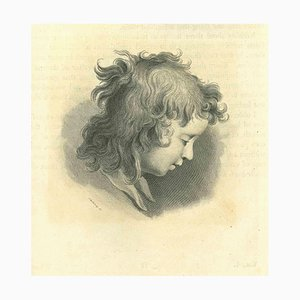 Thomas Holloway, Portrait of a Child, Etching, 1810