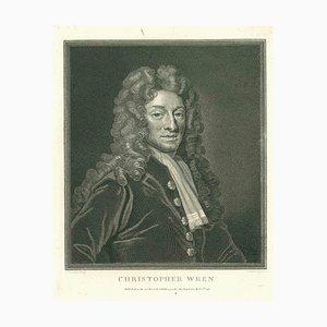 Thomas Holloway, Portrait of Christopher Wren, Etching, 1810