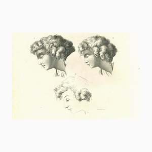Anker Smith, Heads of a Man, Etching, 1810