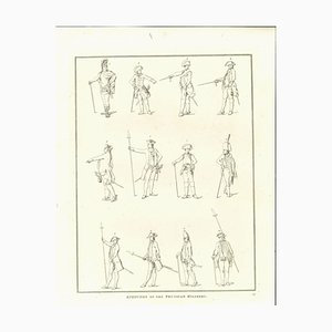 Thomas Holloway, Attitudes of the Prussian Military, Etching, 1810