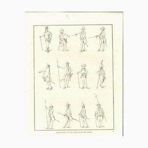 Thomas Holloway, Haltungen des preußischen Militärs, Radierung, 1810