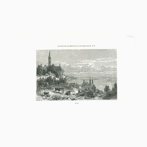 Various Artists, Ancient View of Bude, Lithograph, Mid 19th Century