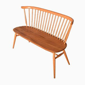 Vintage Blonde Model 450 Love Seat Bench Chair by Lucian Ercolani for Ercol, 1960s