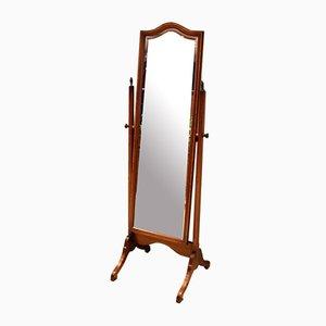 Edwardian Style Mahogany Inlaid Cheval Mirror