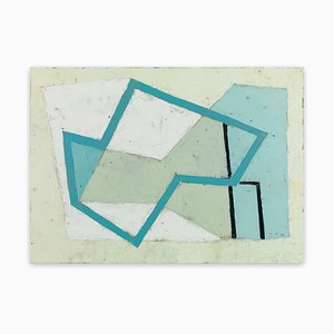 Harbour Forms III Blue Edge, Abstract Painting, 2008