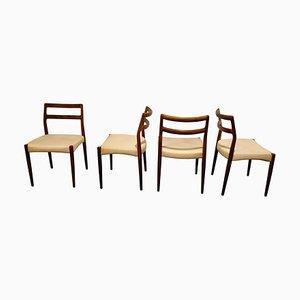 Vintage Esszimmerstühle aus Palisander, 1960er, 4er Set