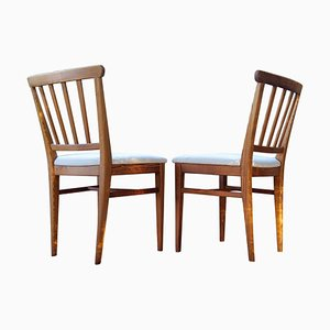 Mid-Century Dining Chairs in Pine by Carl Malmsten, Sweden, 1940s, Set of 4