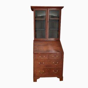 Antique Georgian Cuban Mahogany Bureau Desk Bookcase