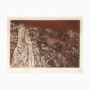 Alpilles Brown Red, Mario Prassinos, Etching