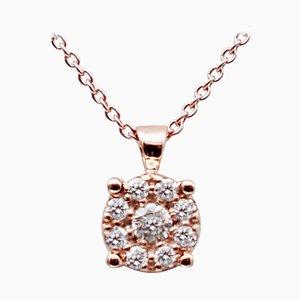 Diamonds & 18 Karat Rose Gold Light Point Pendant Necklace
