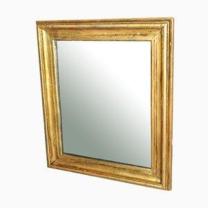 Spiegel in Gold Lackiertem Holzrahmen