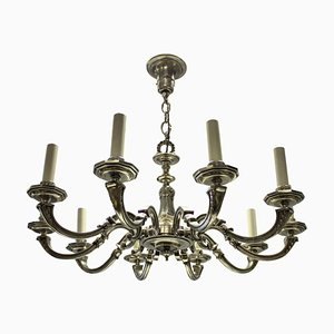 Antique Silver-Plated Chandelier