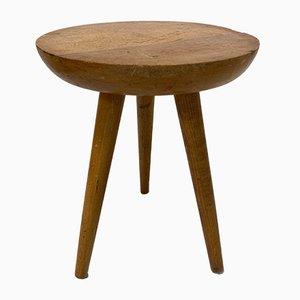 Vintage Solid Elm Side Table, 1950s