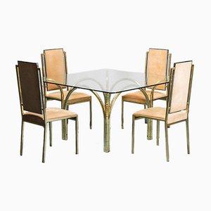 Set da pranzo con tavolo e sedie, anni '70, set di 5