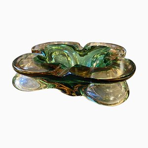 Modernist Sommerso Murano Glass Ashtray by Seguso, 1970s