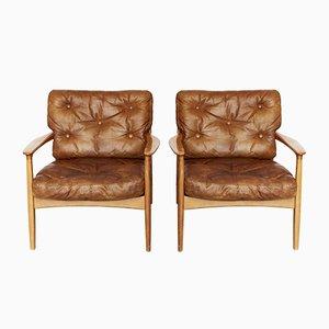 Mid-Century Sessel aus Kirschholz von Eugen Schmidt für Soloform, 1950er, 2er Set